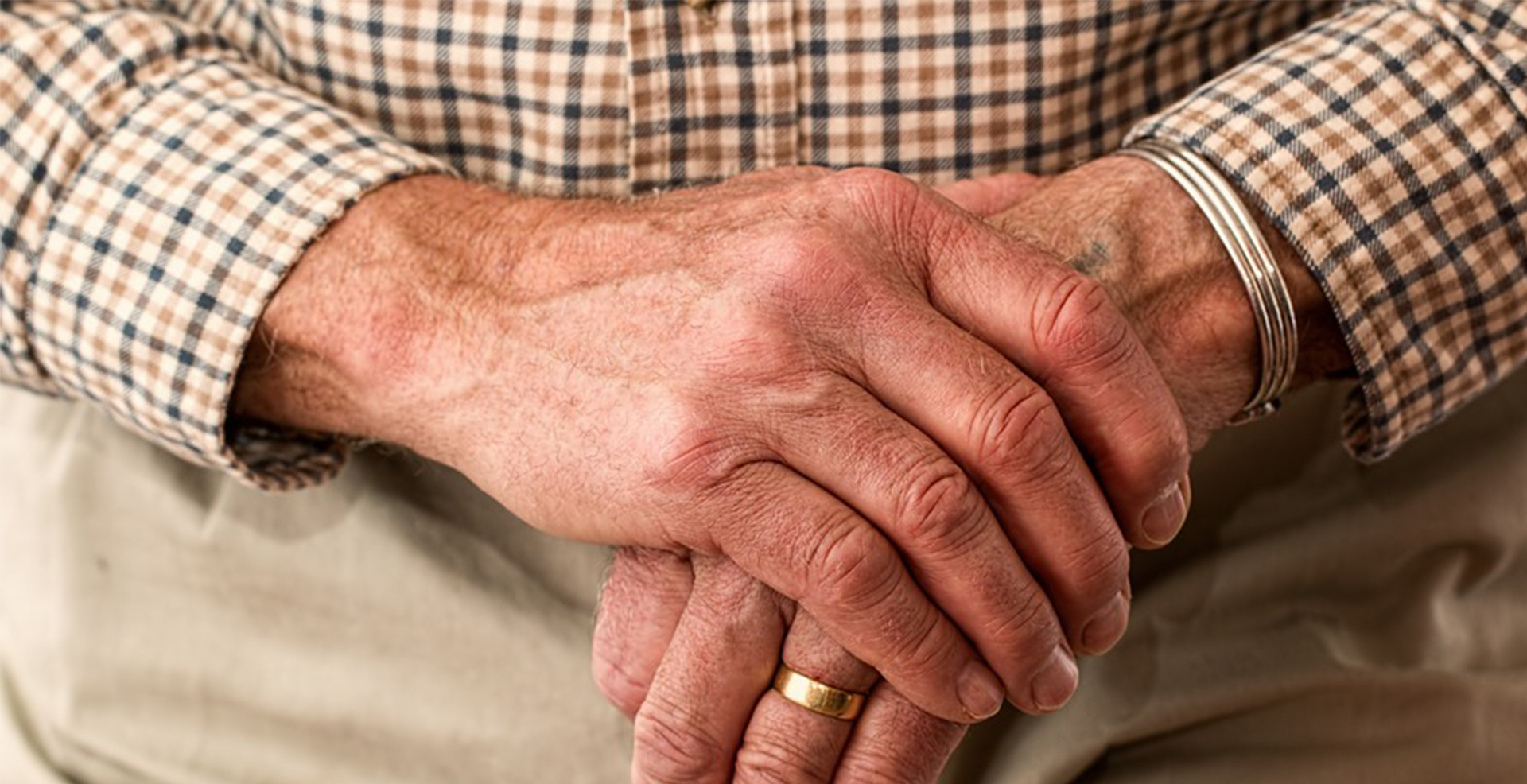 closeup of woman's hands clasped together