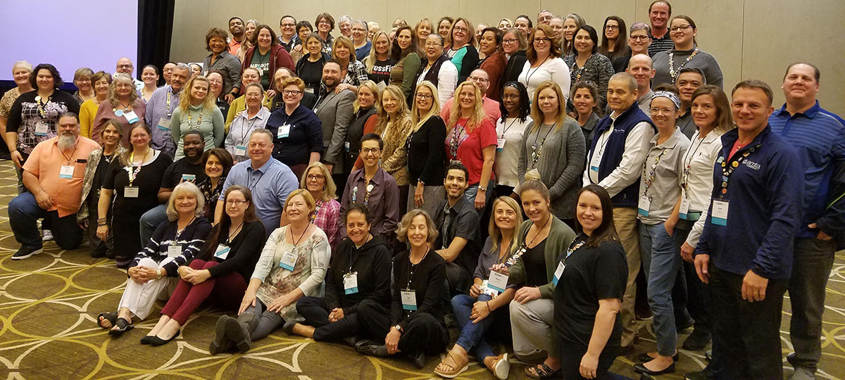 AMTA chapter meeting attendees group photo