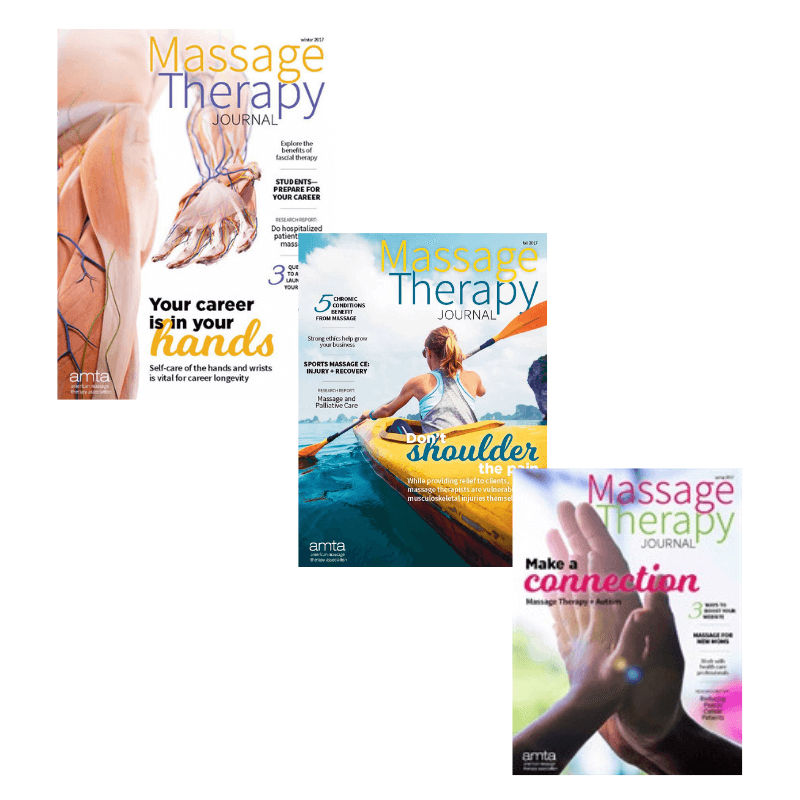 Massage Therapy Journal covers